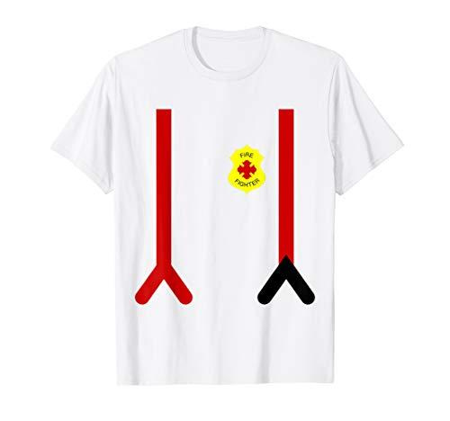 Faul Halloween Feuerwehrmann Kostüm Kinder Feuerwehruniform T-Shirt