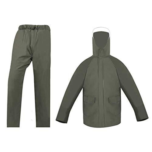 HL-TD Raincoat Adult wasserdichte Jacke Set Tiefe wasserdichte Sicherheit Reflektierende Hd Maske Venting-Loch-Design Angeln Sport im Freien (Size : Small)