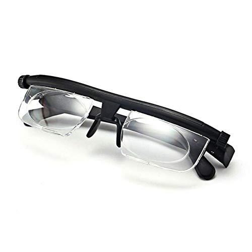 QWEA Gafas de Lectura, la Lectura lupas Gafas, Lentes Ajustables Desde 6D A + Gafas de Lectura 3D para la Mujer/Hombre Leyendo Libros, Incluyendo Caja de vidrios