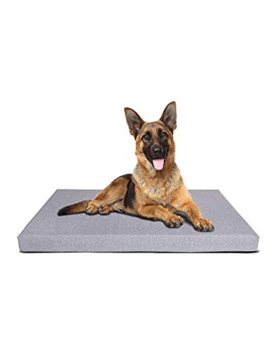 """Petlibro Dog Bed Memory Foam 41"""" x 29"""" XLarge Size Orthopedic Plush Mattress for Therapeutic Joint & Muscle Relief Removeable & Washable Bed Cover with Waterproof Inner Lining, Grey Color Beds non-Prime pets Shipping"""
