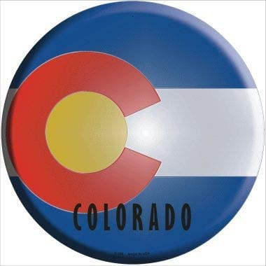 Bargain World Selling Colorado State Flag No Circular Metal Sticky Max 56% OFF Sign