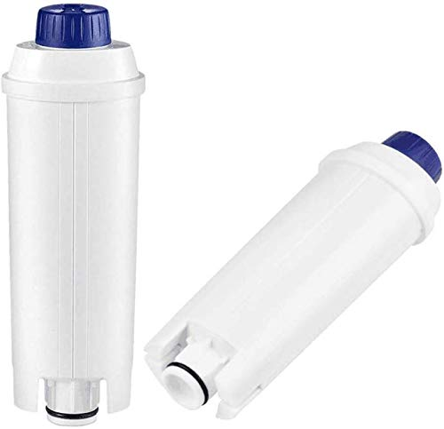 2er Wasserfilter für Delonghi dls c002 Kaffeevollautomaten Filterpatronen Zubehör kompatibel mit De'Longhi Kaffeemaschinen ECAM22.110 ECAM23.21x ESAM magnifica s EC860 BCO ETAM usw.