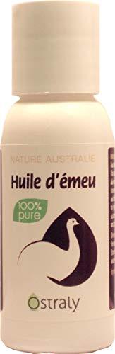 Huile émeu Ostraly pure premium 60ml - L'authentique huile d'émeu australienne depuis 10 ans - Certifiée - Expédition en 24 heures en Colissimo suivi.