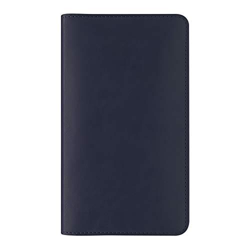 Capa para passaporte e smartphone até 6 polegadas, divisórias para dinheiro, cartões, cartão SIM e extrator de chip, Azul Marinho, TLPPMB, Geonav