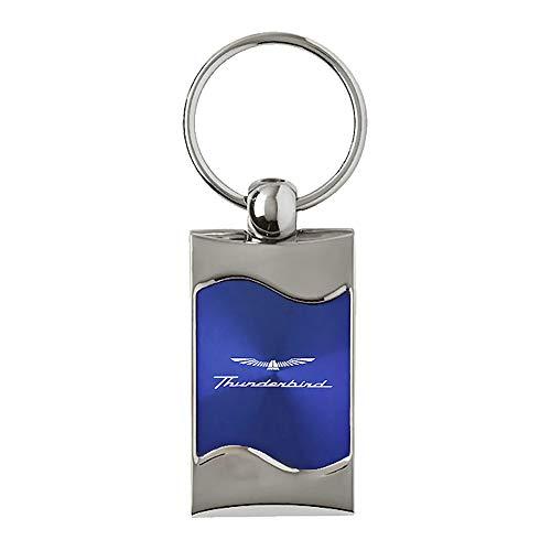 Ford Thunderbird Blue Spun Brushed Metal Key Ring