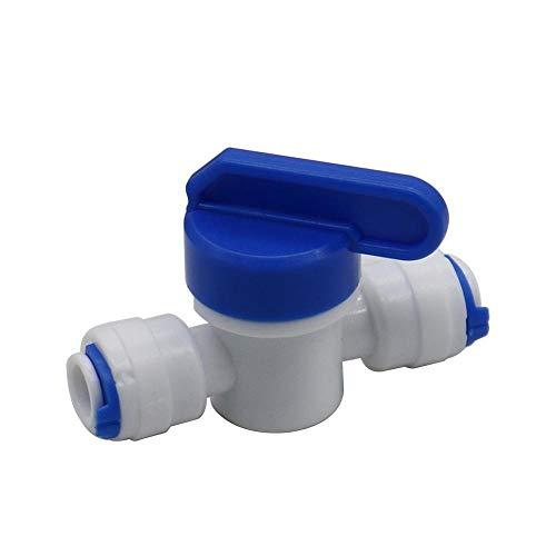 Nologo Qiyuezhuangshi01 2 Stück 6mm Laufsperre Steckkugelhahn durch den Schalter 1/4 Zoll Joint Ventil-Kolben-pneumatische Rohrverbinder Fittings (Farbe : 6mm)