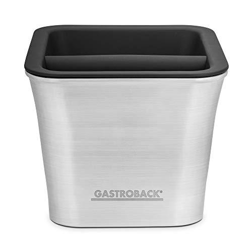GASTROBACK #99000 Barista Coffee Box, Abklopfbehälter, Abschlagbehälter, Knockbox, Edelstahl, 1,5 Liter, Kaffeesatzentsorgung für Espressomaschinen, Cappucino, Latte Macchiato, spülmaschinengeeignet