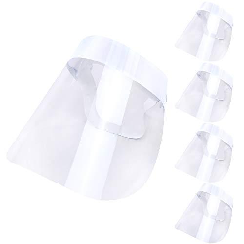 西敬 フェイスシールド スポンジ付き 子供用 白 5個セット CFS-5SW