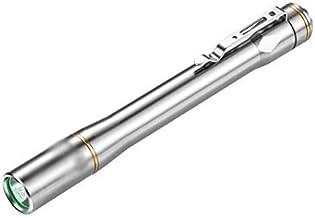 Flashlight 3 Modes Portable Edc LED Pen Light Silver LED Flashlight Torch