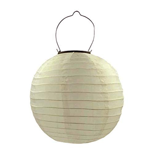 Pantalla de lámpara china, lámpara LED solar, resistente al agua, al aire libre, boda, fiesta, decoración del hogar, 30 cm (champán)
