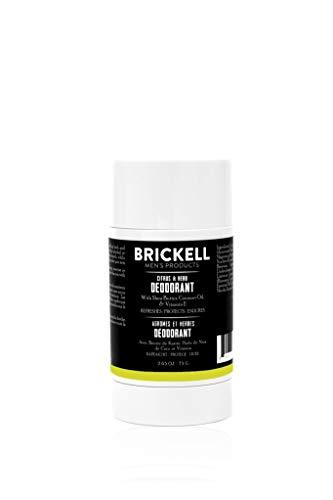 Brickell Herrenprodukte Natürliches Deodorant für Männer, natürlich und biologisch, Aluminium, Alkohol und Backpulver frei, 78 ml (Zitrusfrüchte und Kräuter)