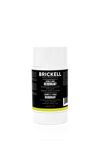 Brickell Men's Products Natural Deodorant For Men, Natural and Organic, Aluminum, Alcohol, and Baking Soda Free, 2.65 Ounce, Citrus & Herb
