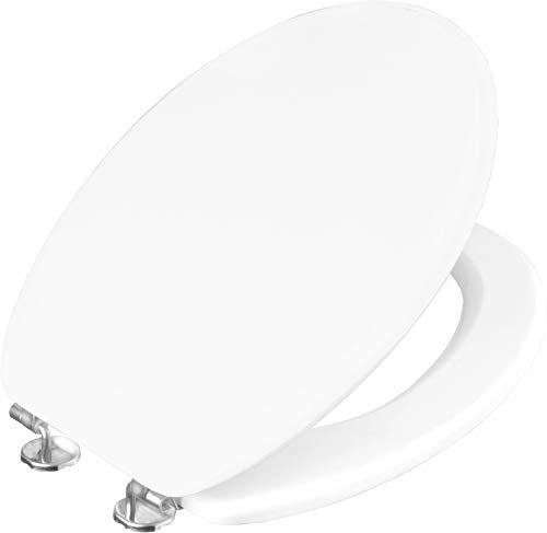 Cornat KSC00 Copriwater Sedile WC, Modello Bern in Legno Laccato, Bianco