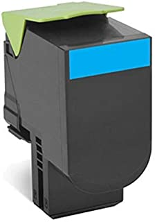 Lexmark 78C0UCG TAA-Compliant Cyan Ultra High Yield Return Program Toner Cartridge Toner
