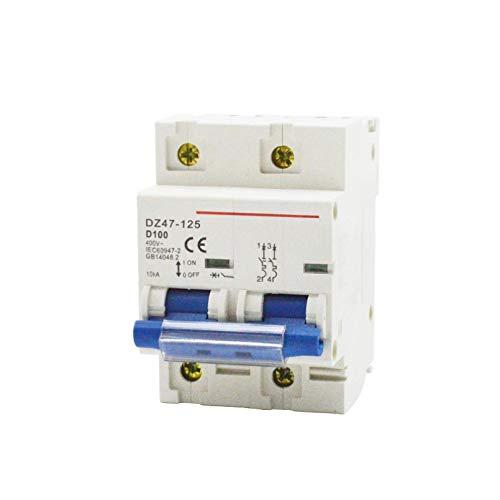 LUOXUEFEI Disyuntor Diferencial Interruptor Mini Interruptor De Aire De Fuga Eléctrica 2P Hogar 80100 125A