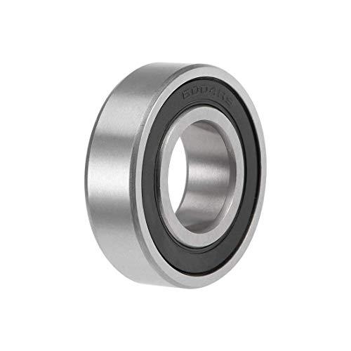 Rodamiento de bolas de garganta profunda Z2 de 20 mm x 42 mm x 12 mm, doble acero al carbono blindado 6004-2RS