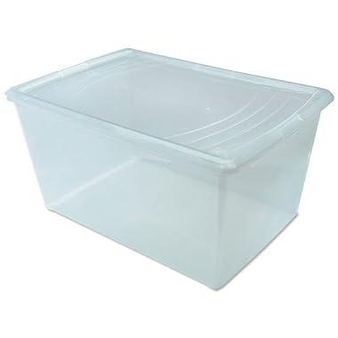IRIS 64 Quart Modular Storage Box, Clear