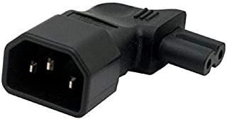 GOUWEI IEC 320 C14 to C7 Right Angle Plug Adapter IEC C7 to C14 3pin Male to 2pin Female Changer Adapter