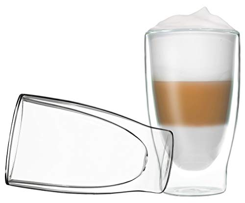 DUOS 2X 400ml doppelwandige Cocktail Thermogläser - Set, Latte Macchiato, Eistee