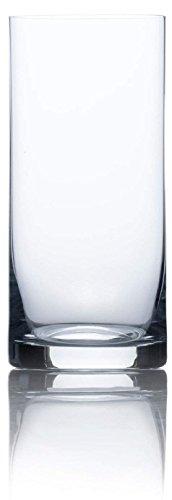 Circleware - Base pesada de burbujas de aire, vasos de bebida, juego de 4, Bohemia Tumbler, 17 oz, 1