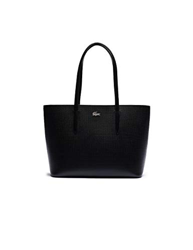 Lacoste NF3494KL, m Zip Shopping Bag Femme, Noir, Taille Unique