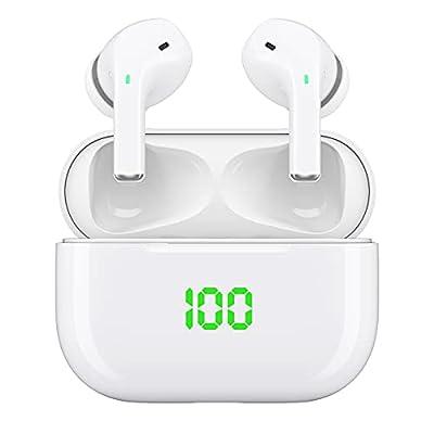 Bluetooth Headphones, Wireless earbuds, V5.1 Wireless Earphones, IPX5 Waterproof HiFi Stereo Bluetooth Earphones Earbuds, In-Ear Headset Built-in Mics with Charging Case from Acescreen