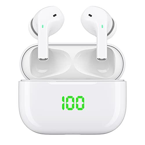 Bluetooth Kopfhörer in Ear, Wireless kopfhörer kopfhörer kabellos mit Kräftigem Bass with USB-C Quick Charge,IPX5 Wasserdicht, 5.0 HiFi Stereo Sound True Wireless Earbuds mit Integriertem Mikrofon