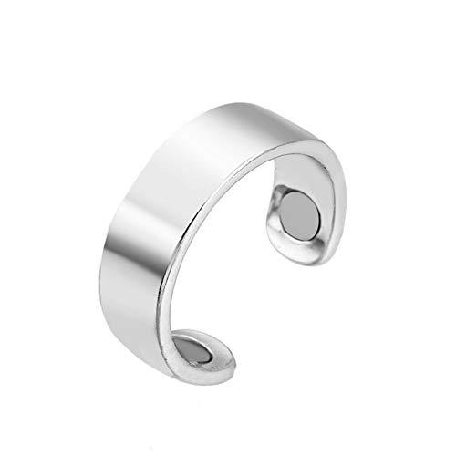 Gewichtsverlust Ring Ring abnehmen Schlank bleiben Fettverbrennung Medizinischer Ring Bleib fit Gesundheitsvorsorge Energieausgleich Titan Stahlring silver