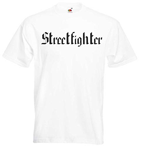 JINTORA T-Shirt - Chemise Homme Blanc - Taille XL - Street Fighter - JDM/La Coupe - pour la fête Carnaval Travail et Loisirs