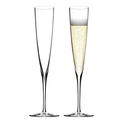 Waterford Elegance Trumpet Flute Pair 160ml, Crystal, 160 milliliters