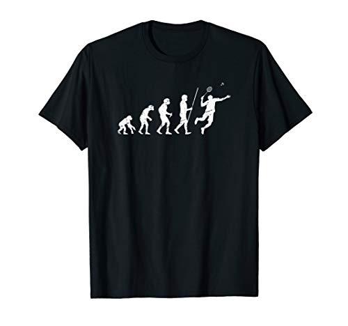 Badminton Evolution T-Shirt Spieler Trainer Geschenk Grunge