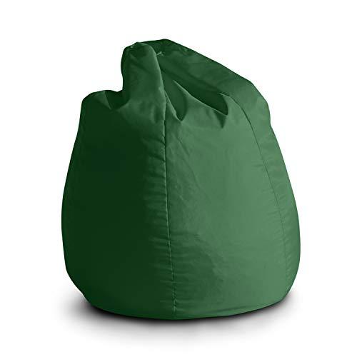 Avalon Pouf Poltrona Sacco per Bambini Bag Jive 65x65x90cm Made in Italy in Tessuto antistrappo Imbottito Colore Verde Prato