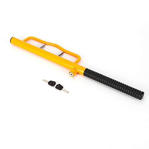 Antirrobo para volante, bloqueo de volante, bloqueo de volante, universal antirrobo con 2 llaves (amarillo)