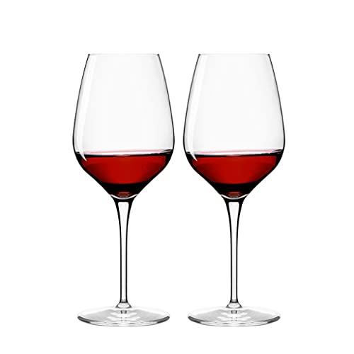 MQH Copas de Vino Copas de Vino Blanco o Rojo soplado a Mano - Embalaje de Regalo para Cualquier ocasión: Vidrio cristalino Premium Libre de Plomo Copas para Vino (Color : Set of 2)