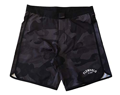 Flowhold MMA Shorts for No Gi BJJ, Grappling, Kickboxing, Crossfit, Jiu Jitsu for Men