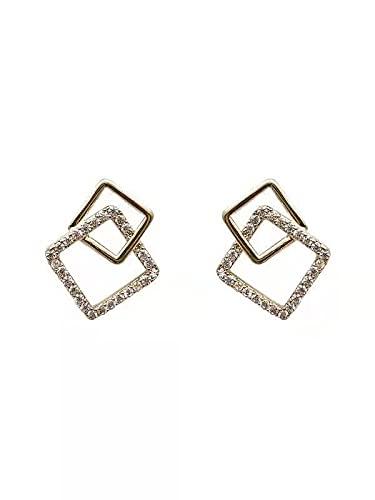Primavera y verano pendientes de personalidad geométricos cuadrados simples pendientes de temperamento de moda pendientes