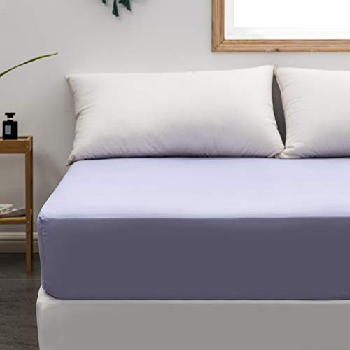 Fitted Sheet Queen Only Light Lavender Deep Pocket Brushed Microfiber 1800 Durable and Fade Resistant Machine Washable Fits Mattress up to 16 inch