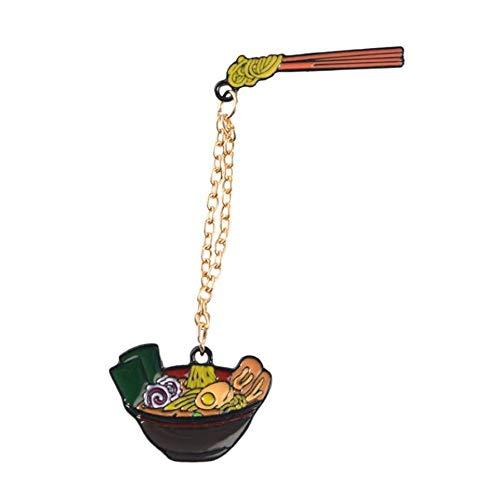 JIWEIER Cartoon Ramen Sushi Emaille Pins Cute Japanese Foods Tonkotsu Nudeln Broschen Denim-Hemd-Kragen-Revers-Stifte Badge Schmuck Geschenke Broschen für Frauen (Color : 5)