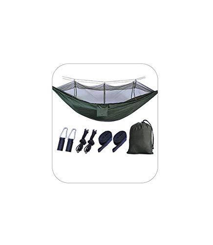MAGF dubbele hangmat met muskieten/insectennetten, camping met boomriemen outdoor nylon parachute doek voor backpacking, camping, reizen, strand, tuin 2 persoon schommelstoel