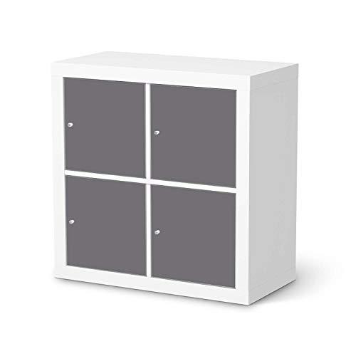 creatisto Möbel-Tattoo passend für IKEA Kallax Regal 4 Türen I Möbelsticker - Möbel-Sticker Aufkleber Folie I Innendekoration für Esszimmer, Wohnzimmer - Design: Grau Light