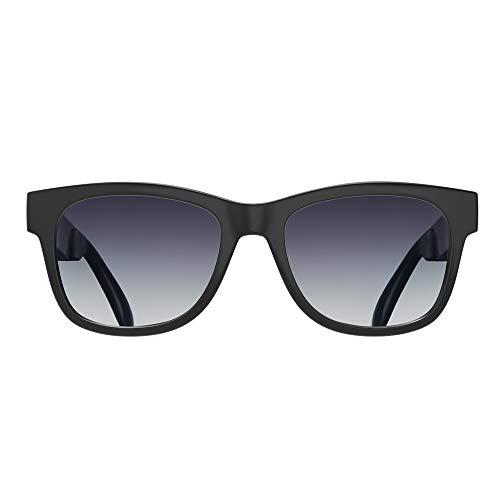 VOCALSKULL Knochenleitung Bluetooth 4.2 Sonnenbrille Drahtloser Stereo Kopfhörer Wasserdicht Wireless Polarisierte Sports Mikrofon für IOS/Android/PC Mattiert Grau(Anti-blaues Licht)