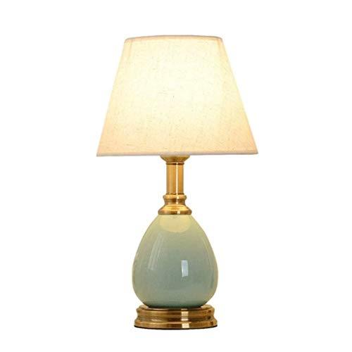 WYBFZTT-188 Lámpara de Mesa Verde - botón del Interruptor de cerámica Simple Moderna Dormitorio de Noche Contador de la lámpara