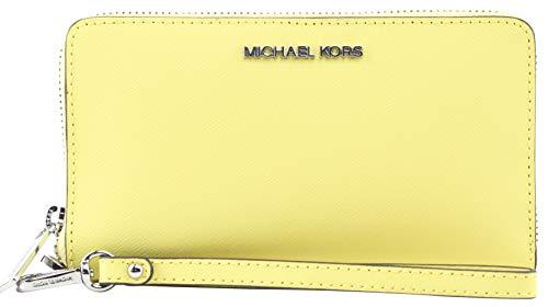 Michael Kors Women's Jet Set Medium Zip Around Phone Holder Wallet Wristlet in Sunshine MK-35S0STVL2L