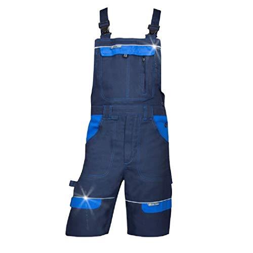 3Kamido Herren Shorts kurzen Arbeitshosen 100% Baumwolle, Arbeitsshorts Professionell - Sehr Stabile, Strapazierfähige Shorts, Arbeitshose Gartenhose, Bundhose, Gartenshorts (52, Blau)