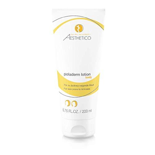 AESTHETICO poladerm lotion - SOS-Hilfe bei Juckreiz, kühlt und beruhigt, Körperhautlotion mit Urea, 200 ml