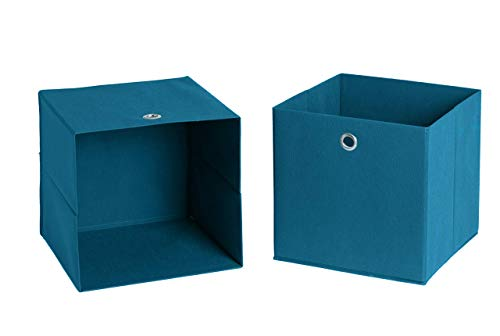 Schildmeyer Faltboxen 2er Set, Petrol, 32 x 32 x 32 cm