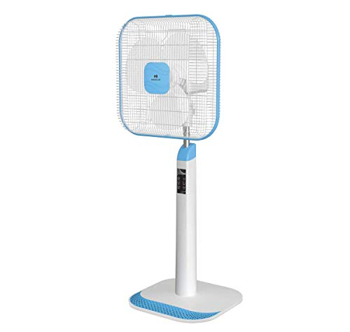 Havells Aindrila STD 400 mm Pedestal Fan (white-blue)