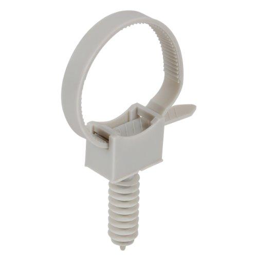 DEBFLEX 709083 chevilles-Gris-709083 électricien Plastique Serrage-Attache Serre câble à embase-20 Colliers avec embases et Chevilles Gris
