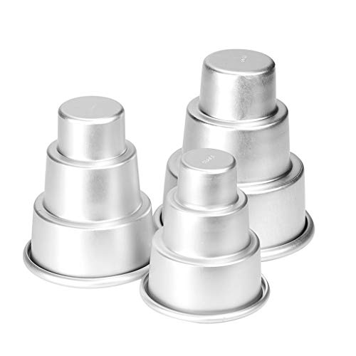 MULIN Designed for Convenience Cake Baking Mold, Bake Elegant & Professional Looking Cakes for Parties, Gifts, & Delicious at-Home Meal, Convenient Three-Tier Cake Pan Silver