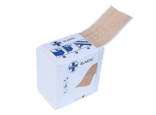 HierBeiDir Vendaje para heridas, elástico, permeable al aire, no irritante para la piel, hipoalergénico, 1 pieza, escayola para heridas (6 cm x 5 m), apósito adhesivo